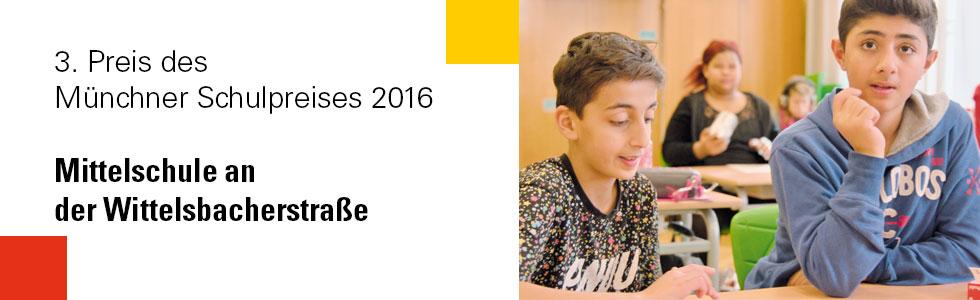 3. Platz Münchner Schulpreis 2016